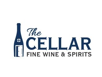 The Cellar  fine wine&spirits  logo design by Roma