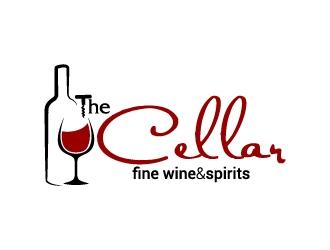 The Cellar  fine wine&spirits  logo design by jaize