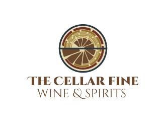 The Cellar  fine wine&spirits  logo design by Gaze