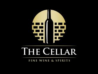 The Cellar  fine wine&spirits  logo design by BeDesign