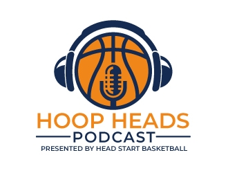 Hoop Heads Podcast logo design