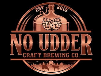 No Udder Craft Brewing Co. logo design