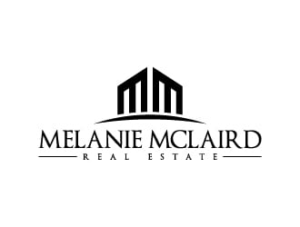 Melanie McLaird Real Estate logo design