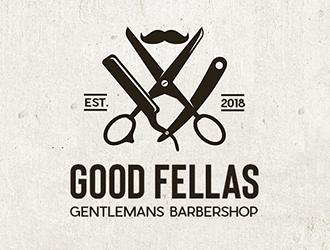 Good Fellas Gentlemans Barbershop logo design