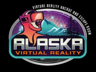 Alaska Virtual Reality logo design