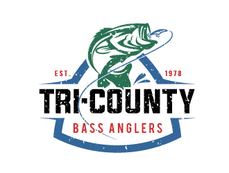 Tri-County Bass Anglers logo design