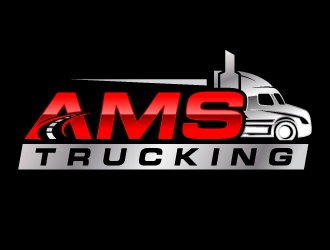 AMS TRUCKING logo design