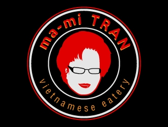 ma-mi TRAN vietnamese eatery logo design