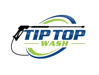 Tip Top Wash logo design