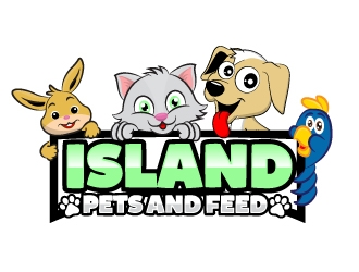 Island Pets and Feed, Inc. logo design