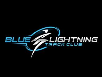Blue Lightning Track Club logo design