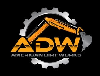 American Dirt Works  logo design
