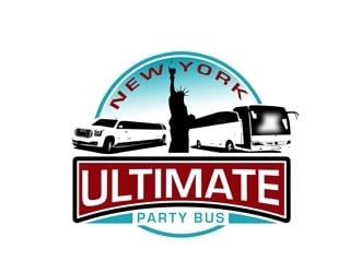 NEW YORK ULTIMATE PARTY BUS  logo design
