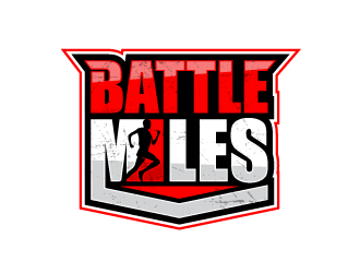 BATTLE MILES logo design