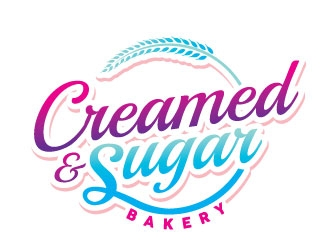 Creamed & Sugar Bakery logo design