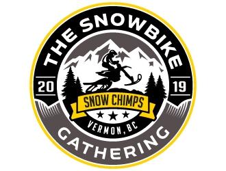 The Snowbike Gathering 2019 logo design
