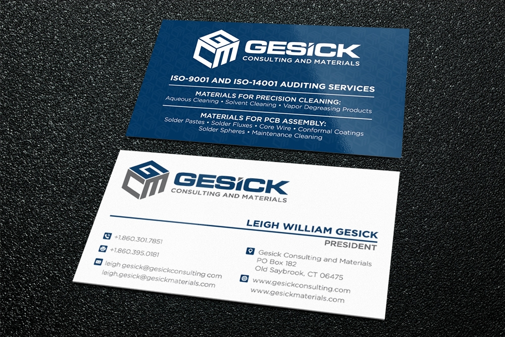 Gesick Consulting and Materials brand identity winner