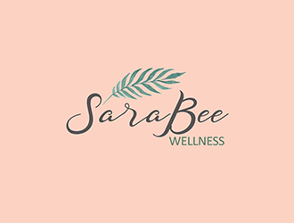 Sara Bee Wellness logo design