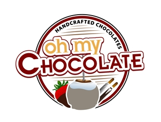 Oh My Chocolate logo design