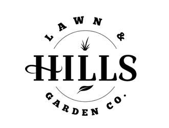 HILLS LAWN & GARDEN CO. logo design