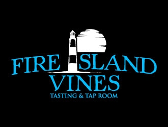 FIRE ISLAND VINES & TASTING ROOM logo design