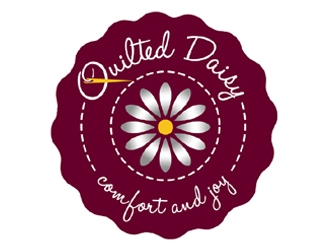 Quilted Daisy logo design