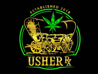 Usher Rx logo design