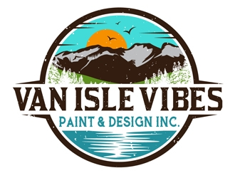 VAN ISLE VIBES PAINT & DESIGN INC. logo design