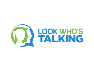 Look Whos Talking logo design