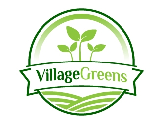 Village Greens logo design winner