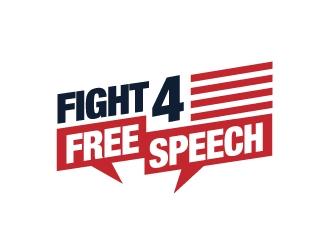 Fight 4 Free Speech  logo design