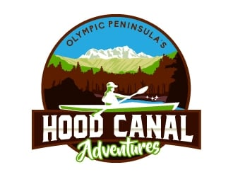 Hood Canal Adventures logo design