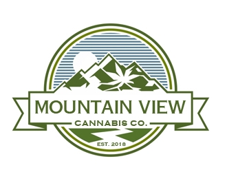Mountain View Cannabis logo design