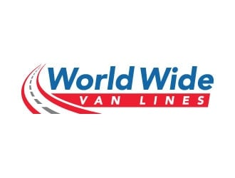world wide van lines  logo design