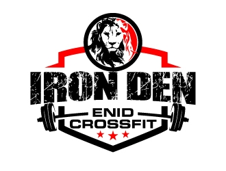 Enid Crossfit Iron Den logo design