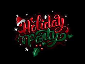 Holiday Party logo design