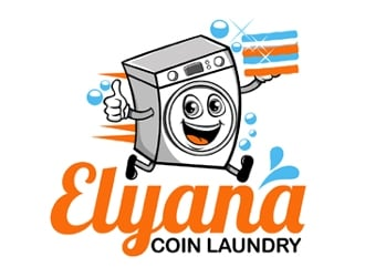 Elyana Coin Laundry  logo design