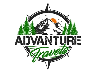 Advanture Travels logo design