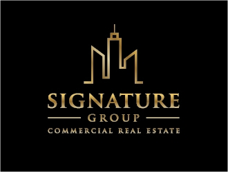 Signature Group Commercial Real Estate logo design