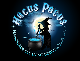 Hocus Pocus - Handmade Cleaning Brews by Daniella Liaris  logo design winner
