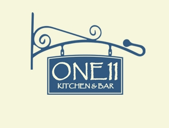 One 11 Kitchen & Bar logo design