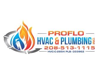 PROFLO HVAC & PLUMBING, INC. logo design