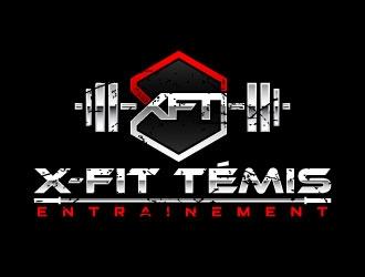 Entrainement X-FiT Témiscouata logo design