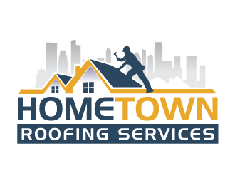 Hometown Roofing Services  logo design