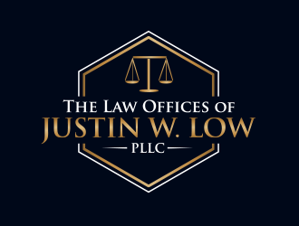 The Law Offices of Justin W. Low, PLLC logo design