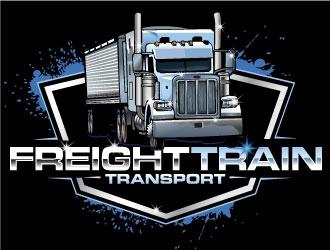 FREIGHT TRAIN TRANSPORT  logo design