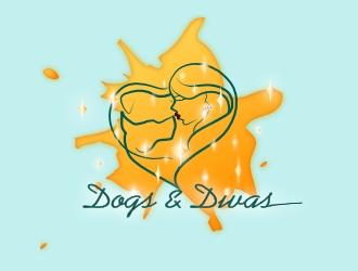 Dogs & Divas logo design by AikoLadyBug
