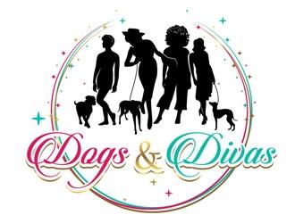 Dogs & Divas logo design by shere