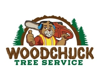 Woodchuck Tree Service logo design