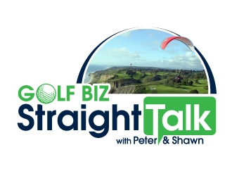 Golf Biz Straight Talk with Peter & Shawn logo design